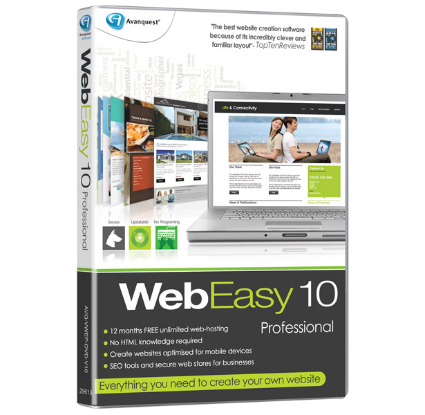 WebEasy Professional 10 Software Review